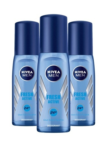 Nivea Nivea Deodorant Erkek Fresh Active Pump Sprey 75 Ml X3 Renksiz